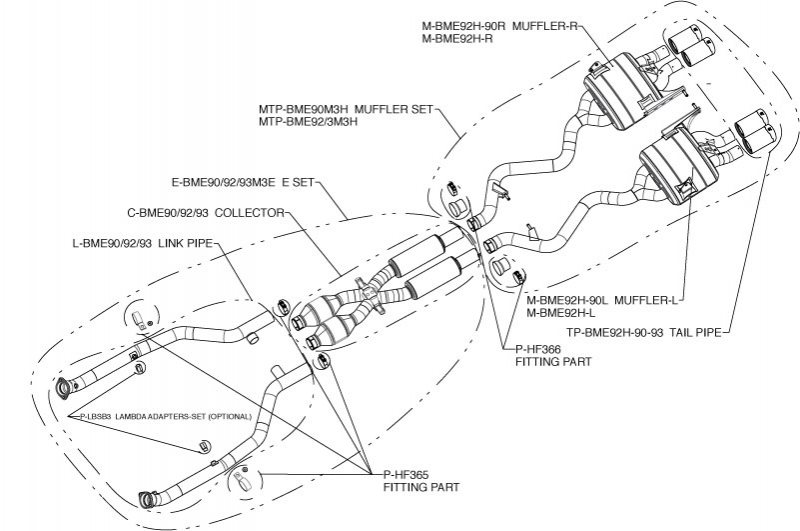 akrapovic evolution titanium exhaust system for e9x m3